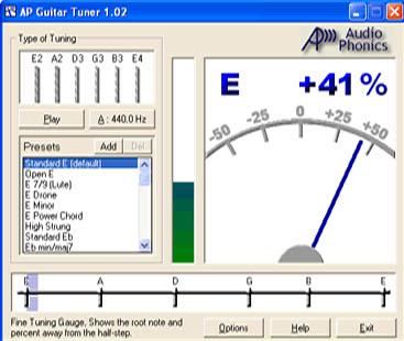 Audio Phonics Guitar Tuner это быстрый и точный гитарный тюнер